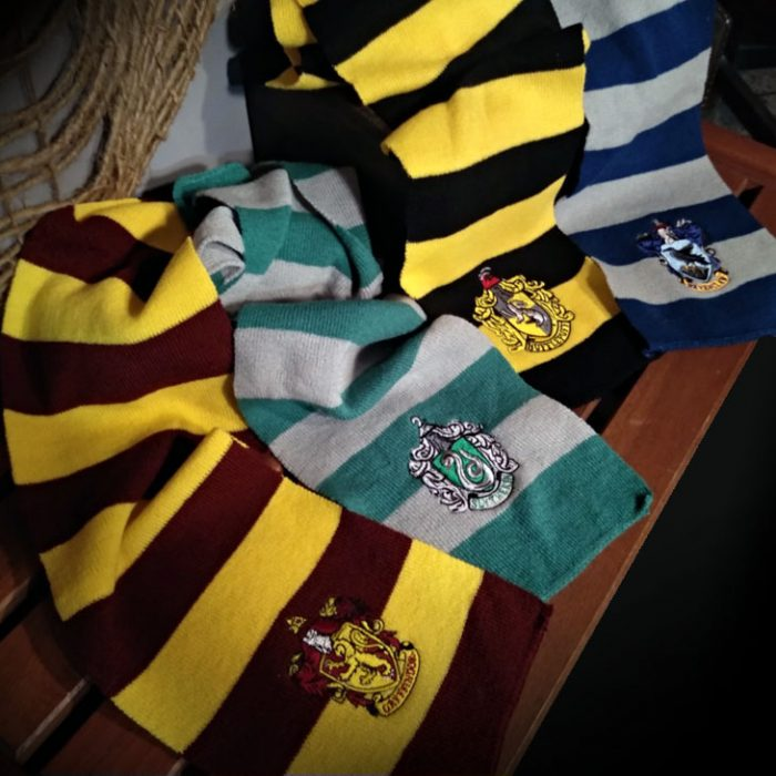 Bufandes de Gryffindor, Slytherin, Hufflepuff i Ravenclaw